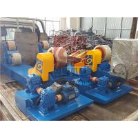 Heavy Duty Pipe Rollers / Pipe Welding Rollers With PU Wheels , 10T Capacity Manufactures