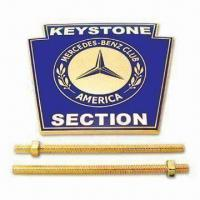 Buy cheap Cloisonne Car Emblem, Made of Brass or Zinc Alloy Material, Customized Designs, OEM Orders Welcomed from wholesalers