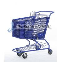 Buy cheap Plastic Supermarket Shopping Basket Cart With Wheels from wholesalers