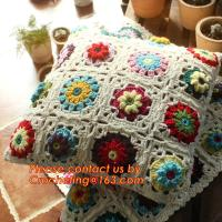 Buy cheap High Quality Nordic Crochet bed pillow Daisy hand-woven cushion covers Decorative Cushion from wholesalers