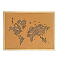 Buy cheap Fashion Cork Board Memo Board with MDF Fame for Office or School from wholesalers
