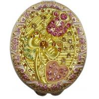 Wholesale Compact mirror with crystal Rose pattern from china suppliers