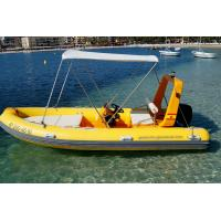 Buy cheap Unique Hull Design Small Rib Boat 8 Person Inflatable Boat With Teak Floor / Fuel Tank from wholesalers