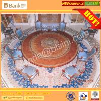 (BK0109-0015T)Luxury Mahogany Royal Palace 8-12 Elegant Blue Chairs Dining Room Furniture Antique Baroque Saudi Table Se Manufactures