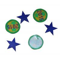 Buy cheap Blue Round Embroidered Custom Patches Soft With Football Shape from wholesalers