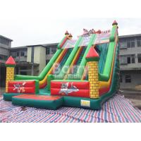 Buy cheap Tom / Jack 14m Length Double Lane Slip Inflatable Dry Slide With Air Blower from wholesalers