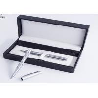Buy cheap Professional Cardboard Pen Gift Box Grey Suede Lining Material Customized Logo from wholesalers