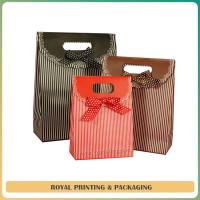 Buy cheap large size paper bag /shopping bag with beautiful silk ribbon from wholesalers