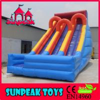 Buy cheap SL-1986 Popular OutDoor Triple Lane Slip Large Inflatable Slide from wholesalers