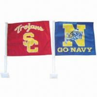 Buy cheap Car Flags, Customized Sizes are Accepted from wholesalers