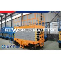 Wholesale SJY Series 4-14m Mobile Hydraulic Platform Lift Self Propelled In Yellow from china suppliers