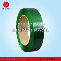China Polyester strapping band green Pet strips on sale