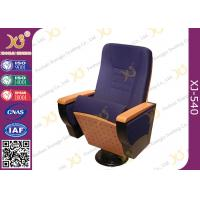 Buy cheap Writing Tablet In Armrest Lecture Hall Seating Chairs With AC Outlet On Single Leg from wholesalers