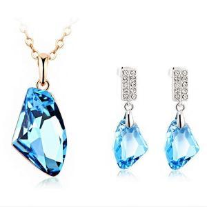 China Jewelry set made with Swarovski elements TJ0080 on sale