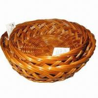 Buy cheap Natural color oval-shaped fern bread baskets from wholesalers