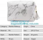 Buy cheap Custom Tyvek Paper Zipper Cosmetic Makeup Bag With Leather Handle,untearable tyvek zipper cosmetic bag,Environmentally f from wholesalers