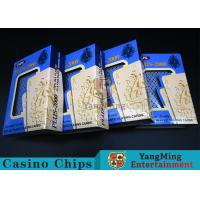 Red / Blue Color Plastic Poker Playing CardsWith High Efficiency Waterproof