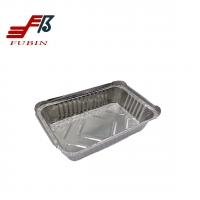 Buy cheap 100 Recycled 1.65lbs Aluminum Trays For Food Rectangle from wholesalers