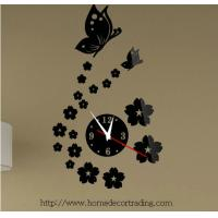 Buy cheap Flower wall clock 3d wall clock for home decor from wholesalers
