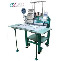 Wholesale Single Head Cap / Shirt / Flat Computer Embroidery Machine With Single Sequin Device from china suppliers