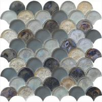 Magic grey series water waving glass mosaic for man's room Manufactures