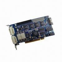 Buy cheap 16-channel H.264 DVR Card with 120fps NTSC/100fps PAL Recording Rate from wholesalers