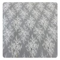 Wholesale 150CM Wedding Dress Floral Lace Fabric Chantilly OEM Textile Floral Fabric from china suppliers