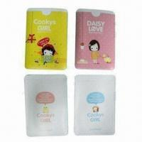 Buy cheap Doulbe Pocket Card Holders, Made fo Soft PVC, Machinery Heat Seal Binding, Measuring 9.5 x 6.5cm from wholesalers