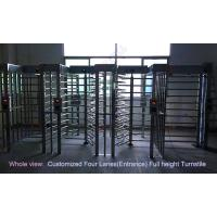 Philippines Stadium Full Height Turnstile /  biometric access control barrier gate in outdoor Manufactures