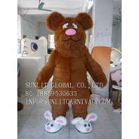 China cute rabbit shoes bear mascot costume, advertising fur bear mascot costume on sale