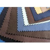 Buy cheap Eco Synthetic Suede Leather Fabric Non Woven With Pattern Flocked from wholesalers