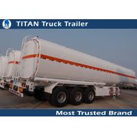 Buy cheap 20000 - 60000 Liters Petrol Diesel Crude Oil tanker trailers 1 - 9 compartments product