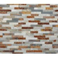 Buy cheap Interior Rusty Quartz Cultured Stone Panels Imitation Lightweight Artificial from wholesalers