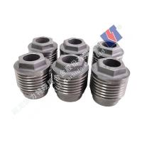Buy cheap Strong Anti Corrosion Tungsten Carbide Nozzle Outer Hexagon Threaded Injection Molding from wholesalers