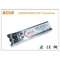 Buy cheap  DDMI DWDM sfp transceiver 120km 1.25G C-Band for Fiber Channel from wholesalers