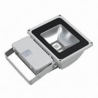 Buy cheap IP65 70W High-power LED Floodlight with Aluminum Body and Tempered Glass product
