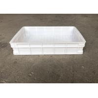 Buy cheap Heavy Duty Euro Stacking Containers White Food Plastic Trays For Freezing Fish from wholesalers