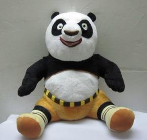 China Kungfu Panda Sitting Pose Plush Toys on sale