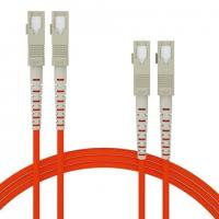Buy cheap OM1 OM2 Orange Fiber optic patch cord OS1 OS2  MM SX DX multicore can be customized from wholesalers