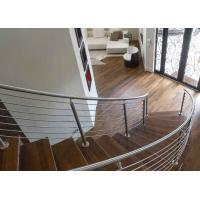 Buy cheap Indoor Stair Railing Stainless Steel Balustrade System Solid Rod Bar Simple Installation from wholesalers