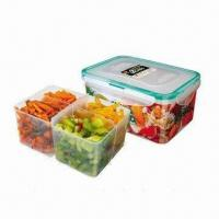 Buy cheap Rectangle food container with divider (1.2L) from wholesalers