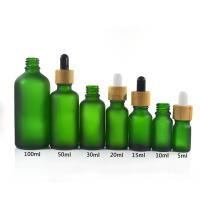 Buy cheap Green Color Essential Oil Glass Bottles , 1 oz 2 oz 4 oz Boston Round Glass Bottles from wholesalers