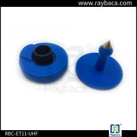 Buy cheap 7.4 G Animals Blue EID Ear Tags For Pigs 30mm Diameter 22mm Height from wholesalers