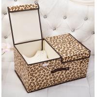 Wholesale Foldable Two Opening - Door Foldable Storage Box Leopard Print Storage Box from china suppliers