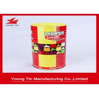 China Cylinder Round Food Cookie Gift Tins , CMYK Printed Outside Glossy Finished Biscuit Tin Box on sale