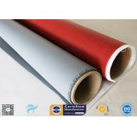 Buy cheap IMO Testing Fireproof 510g Silicone Coated Fiberglass Fabric 1*50m Welding Curtain from wholesalers