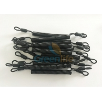 Wholesale 5CM Long Loop Ends Black Flexible Plastic Spring Tethers from china suppliers