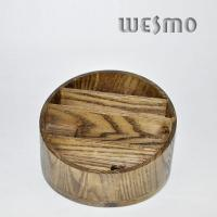 Buy cheap Custom OEM Round Bamboo Jewelry Box Holder with Four Terraced Parts from wholesalers