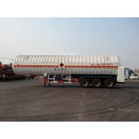 Wholesale Double Layered 56000L 3x13T FUWA alxe Cryogenic LNG Tank Semi - trailer from china suppliers