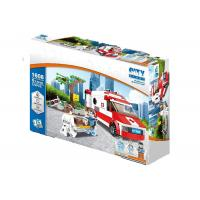 China Lightweight Building Blocks Educational Toys City Logistic Medical Rescue Vehicle on sale